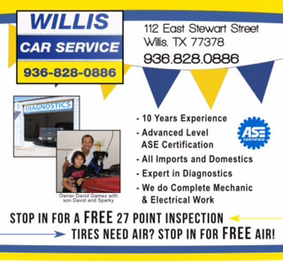 Willis Car Service in Willis, Texas. Vehicle inspection, maintenance and repair.